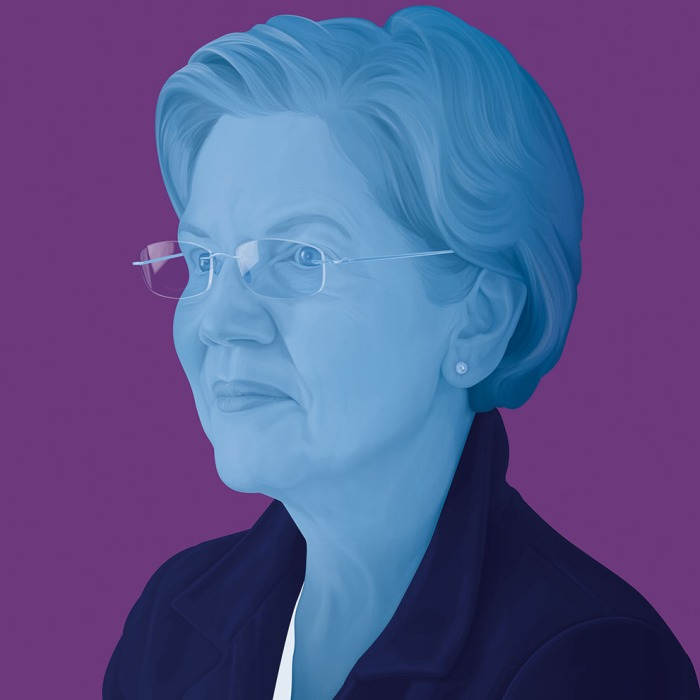 Elizabeth Warren. Illustrations by Jules Julien; Tony Cenicola/The New York Times